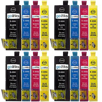 4 Set of 4 Ink Cartridges to replace Epson T3596 (35XL Series) Compatible/non-OEM from Go Inks (16 Inks)