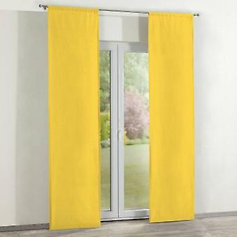 Oppervlakte gordijnen 2 pc's., geel, 60 x 260 cm, Loneta, 133-55