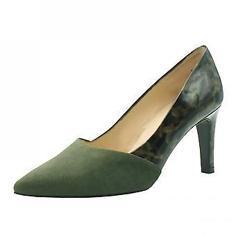 Peter Kaiser Ekatarina Stylish Leather Court Shoes In Pine