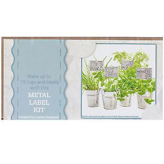 Embossed Metal Plant Tags & Labels Craft Kit - Boxed Gift