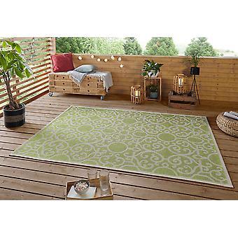 Jaffa 103887 Nebo Green  Rectangle Rugs Modern Rugs