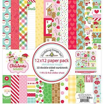Doodlebug Design Christmas Magic 12x12 Inch Paper Pack