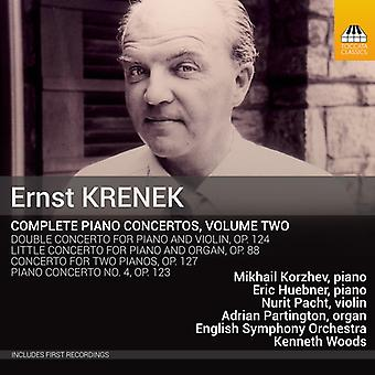 Krenek / Korzhev / Huebner / Pacht / Partington - Ernst Krenek: Complete Piano Concertos [CD] USA import