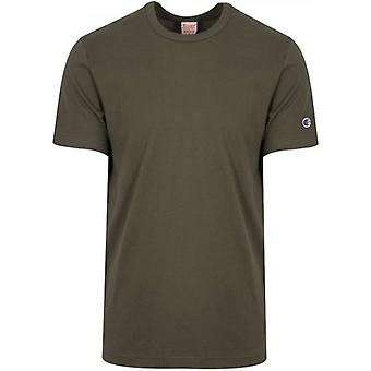 Champion Reverse Weave Green Arm Logo T-Shirt