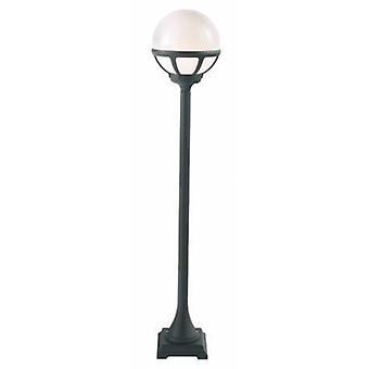 1 Light Outdoor Bollard Lantern Black, Opal Ip54, E27