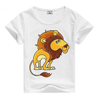 Summer Cotton Short Sleeve T-Shirt, Lion