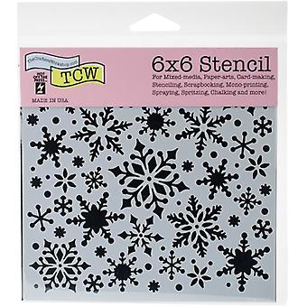 The Crafter's Workshop Snowflakes 6x6 Inch Stencil