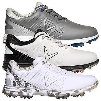 Callaway Golf Mens 2020 Apex Coronado Leather Waterproof Golf Shoes