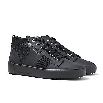Andriod Homme Propulsão Mid Geo Rubber Textured Black Trainers