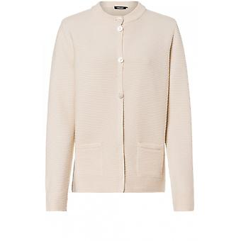 Olsen Ivory Ribbed Tricot cardigan