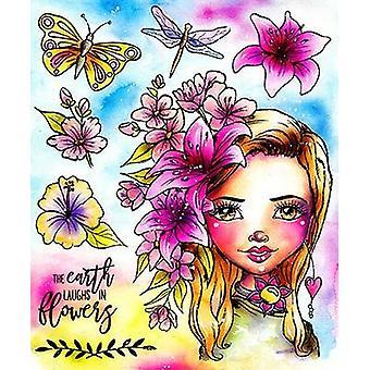 LDRS Creative Flower Power Art Journal Stamps