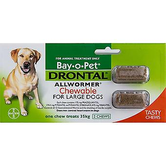 Drontal Chewable câini mari-2 Chews