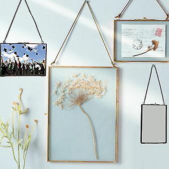 Modèle industriel Double Sided Glass Hanging Wall Photo Frame - Plante de fleur
