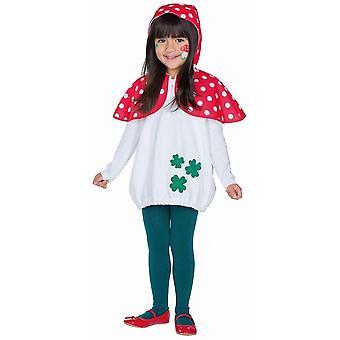 Paddor verktyg barn kostym hooded topp svamp karneval natur prickar