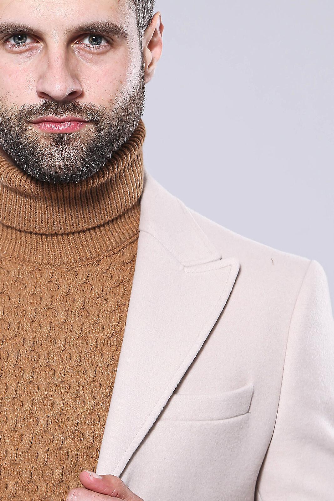 Wide peak collar short coat | wessi