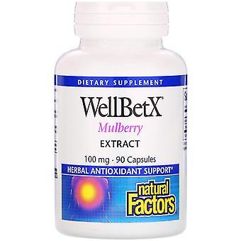 Natürliche Faktoren, WellBetX, Maulbeerextrakt, 100 mg, 90 Kapseln