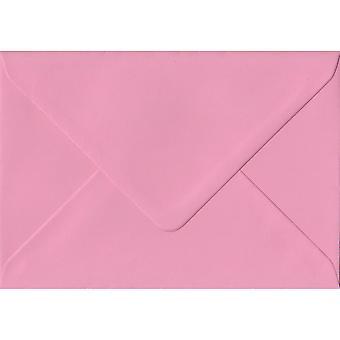 Rosa pastello gommata regalo/posto scheda buste colorate rosa. 100gsm carta sostenibile FSC. 70 mm x 110 mm. busta di stile del banchiere.