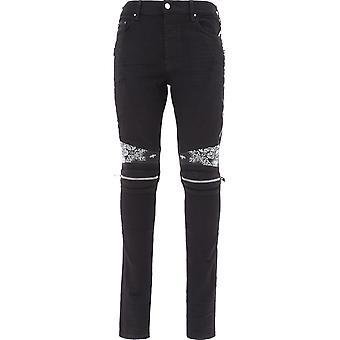 Amiri F0m01158sdblk Men's Black Cotton Jeans