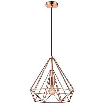 Éclairage de ressort - 1 léger fil Petit plafond Pendentif Cuivre, E27