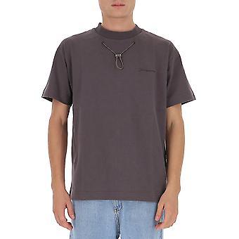 Jacquemus 206js13206218970 Men's Brown Cotton T-shirt