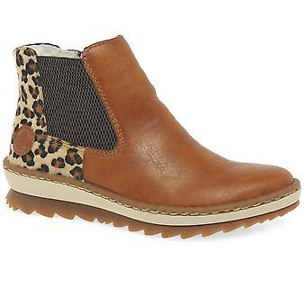 Rieker Weave Womens Chelsea Boots