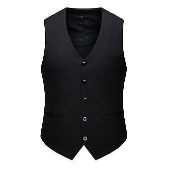 Men's Top Designed V-neck Sleeveless Casual Slim Fit Skinny Dress Vest