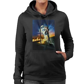 Back to the Future Marty Looking At His Watch Women's Hooded Sweatshirt
