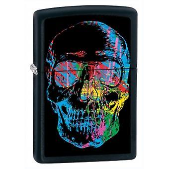 Zippo X-Ray Skull Zwarte Matte Aansteker - X-Ray Skull