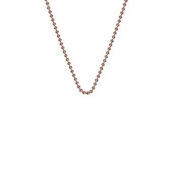 """Emozioni 24"""" Rose Gold Plated Sterling Silver Bead Chain CH052 Emozioni 24 """" Rose Gold Plated Sterling Silver Bead Chain CH052"""