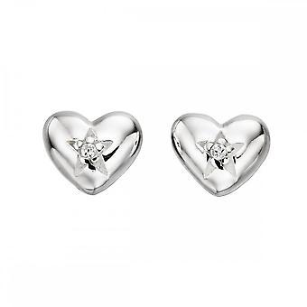 بدايات الجنيه الاسترليني الفضة E4605C واضح Cz القلب مسمار الأقراط