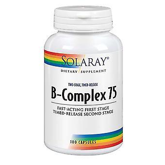 Solaray B-مجمع 75، 100 قبعات