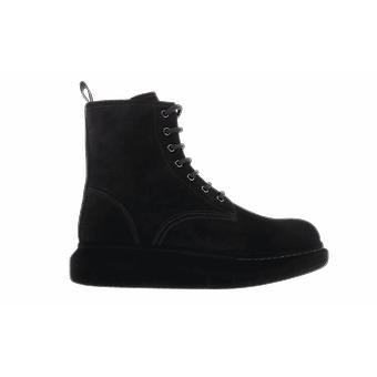 Alexander McQueen H.Boot Leath S.Rubb. New Black 625184WHXK91000 shoe