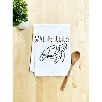 Save The Turtles Dish Towel