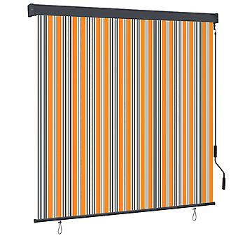 vidaXL outer roller blind 160x250 cm yellow and blue