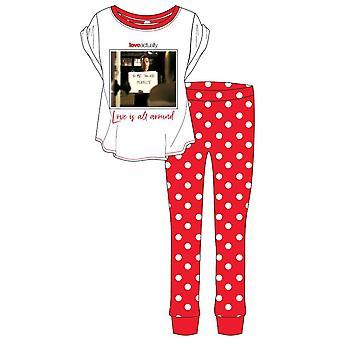 Love Actually Womens/Ladies Love Is All Around Pyjamas