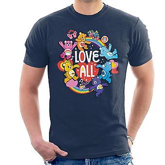 Care Bears låse Magic Love All White Tekst Mænd's T-shirt