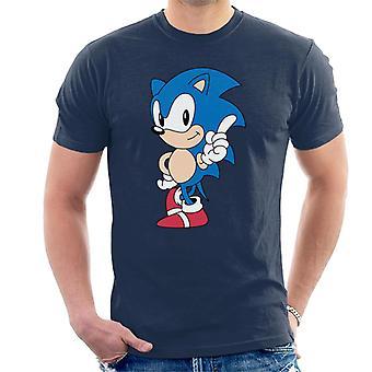 Sonic der Igel Zeigefinger Männer's T-Shirt