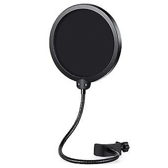 Innogear mikrofon pop filter vridbar med dubbla lager ljudsköld vakt vindruta för blå yeti