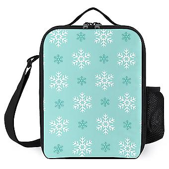 Christmas Snowflake Seamless Pattern Printed Lunch Bags