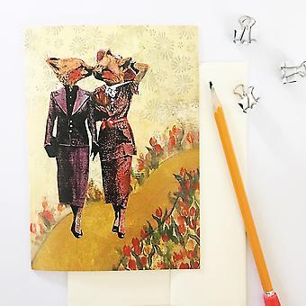 Lesbian Foxes Card