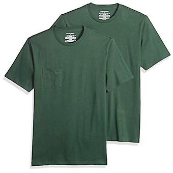 Essentials Men's 2-Pack Slim-Fit Short-Sleeve Crewneck Pocket T-Shirt