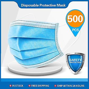 Disposable Masks 3-layer Non-woven Face Mask Anti Dust Mouth Mask Protection