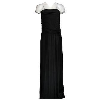 Belle Beach By Kim Gravel Dress Coverup Tube Dress W/Pockets Black A391616