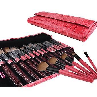 15pc Studio professionelle Kosmetik Make-up Pinsel Set Kit Faux Krokodil Fall - für Lidschatten erröten Eyeliner