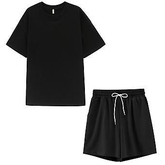 Toppies الصيف Tracksuits المرأة اثنين Peices مجموعة الترفيه ملابس القطن عالية