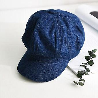 Nouveau Leisure Octagonal Denim Beret Cowboy/newsboy/gatsby/driving Hat