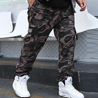 Pantaloni de camuflaj Cargo, Pantaloni Joggers Militar Men, Hip Hop Army Camo Man