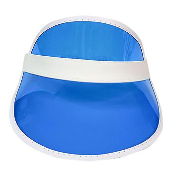 Anti-uv Summer Sun Hat Color Transparent Empty Top Plastic Pvc Sunscreen Hat