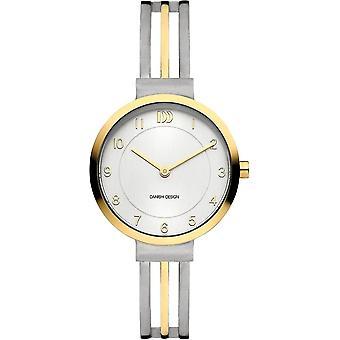 Deens design Tiara Horloge - Zilver/Goud/Wit