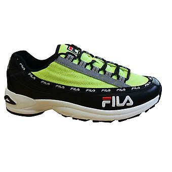 Fila DSTR97 schwarz Lime Leder Textil Lace Up Herren Trainer 1010570 12N